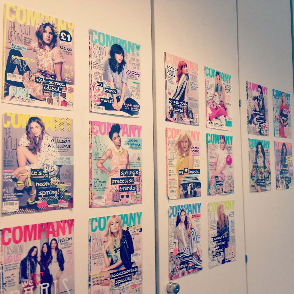 A picture of Company magazine covers