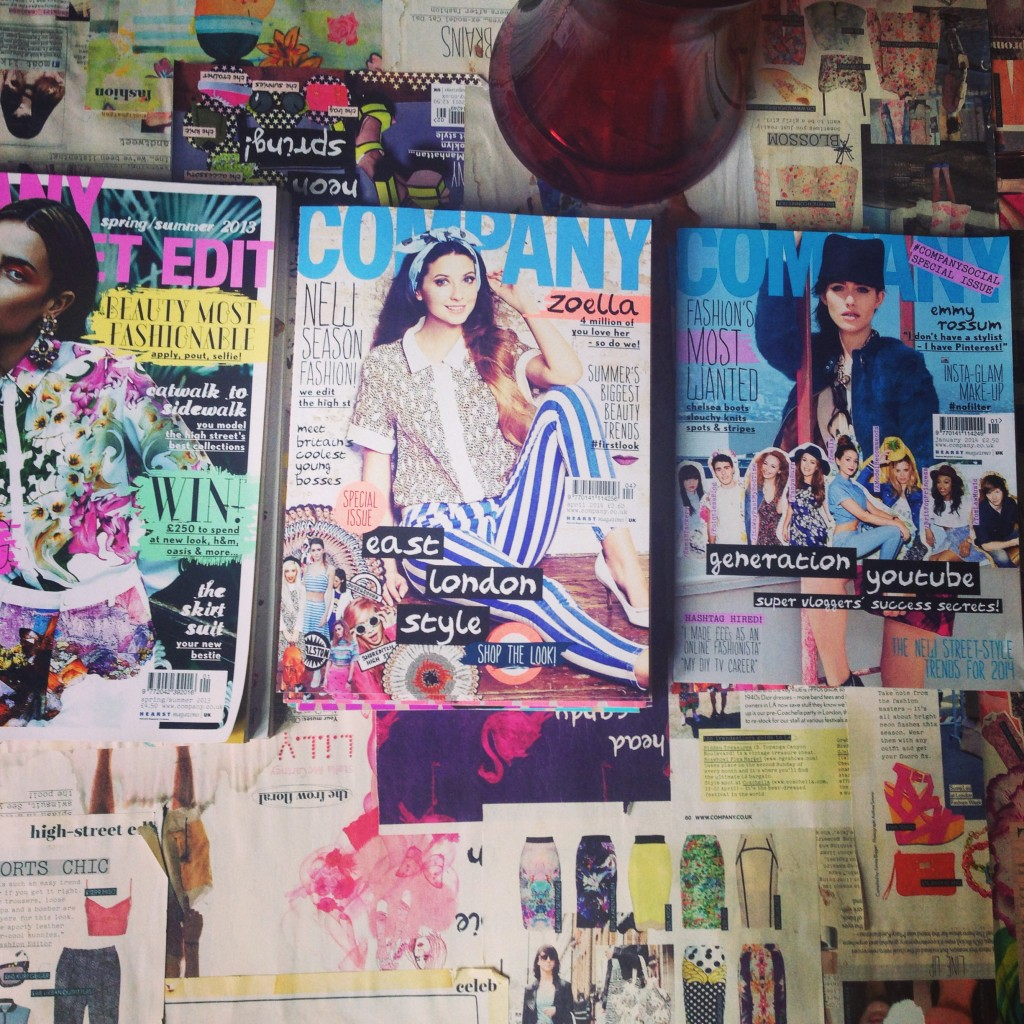 Magazine cover with Zoella on the front