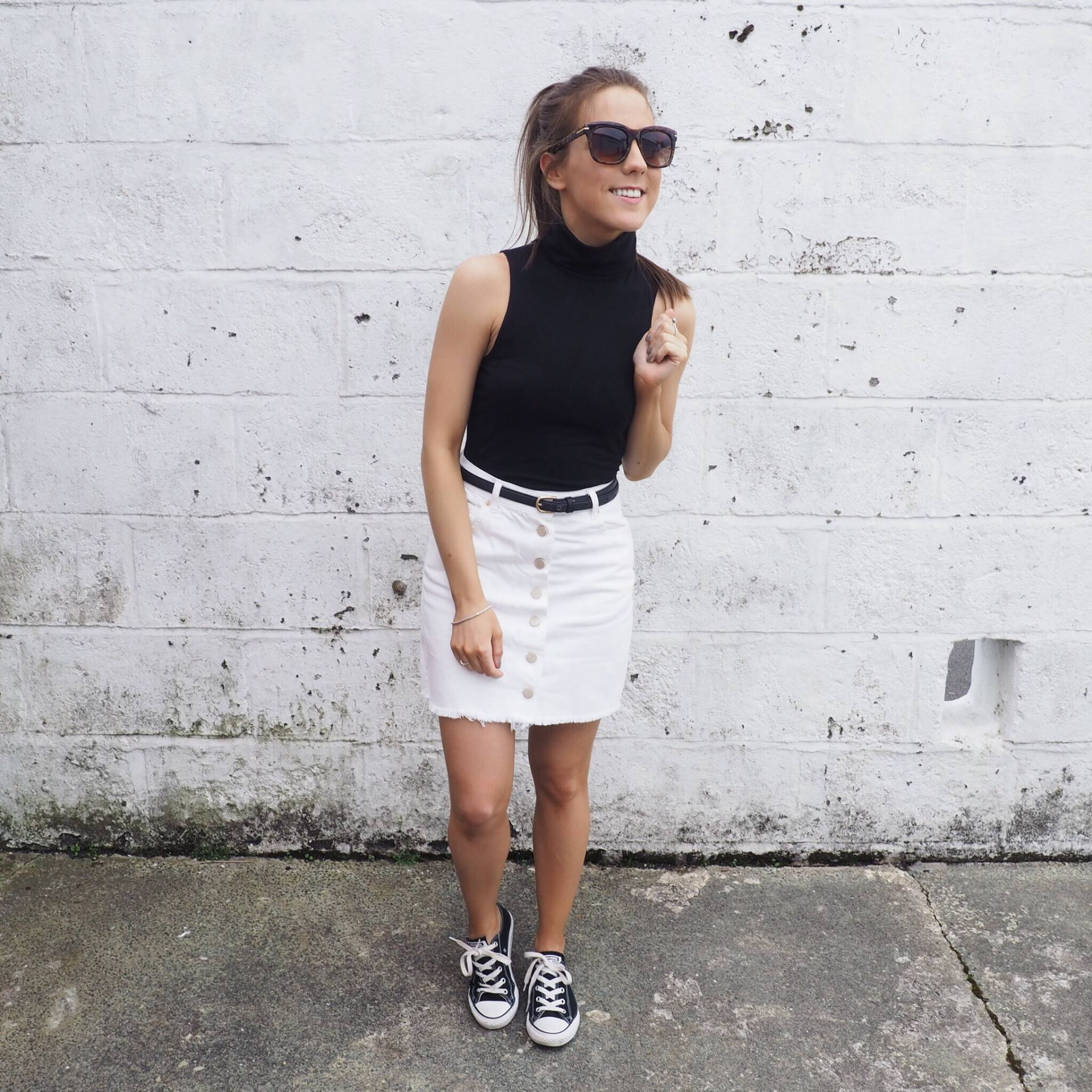 1450afc02dc75 Converse Women Outfit White Converse Outfit Summer Summer