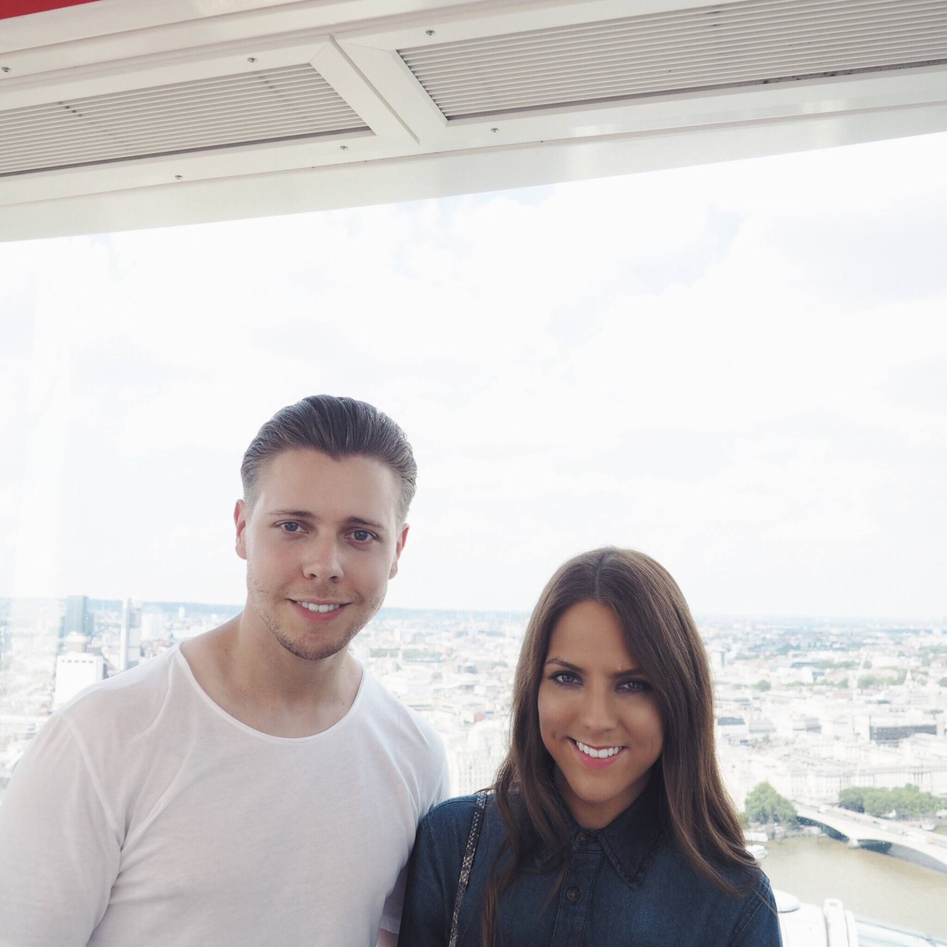 Tourists on the London Eye