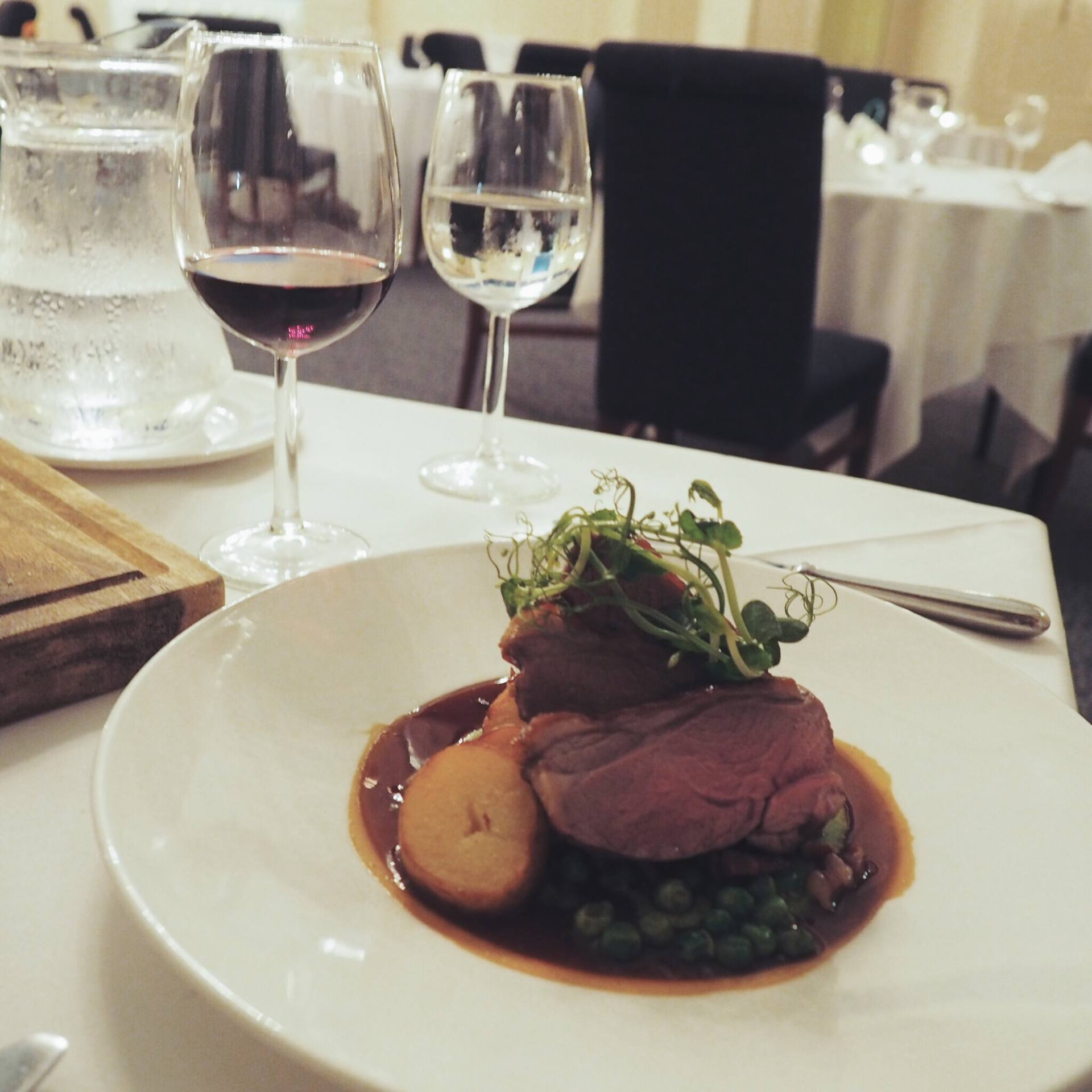 Dinner at the Eliot Restaurant, Coed-Y-Mwster