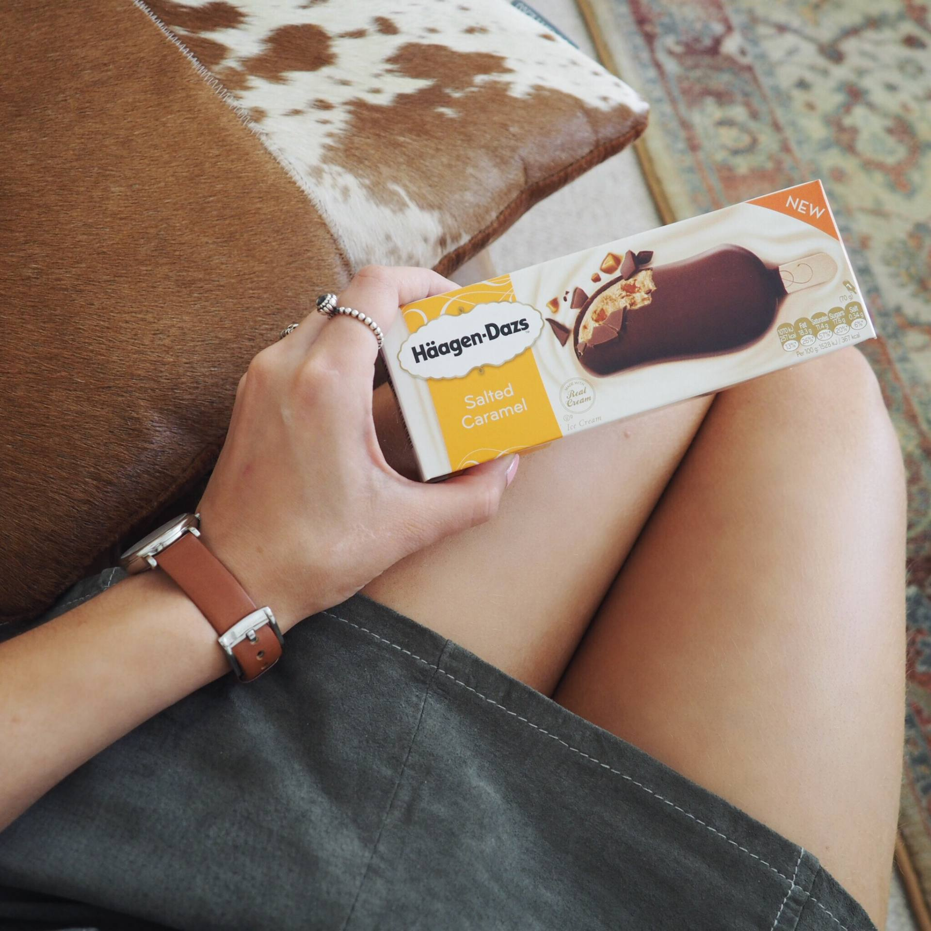 Häagen-Dazs salted caramel stick bar