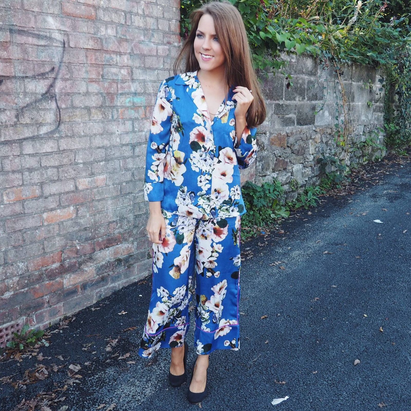 Pyjama blouse and wide-leg trousers, ASOS