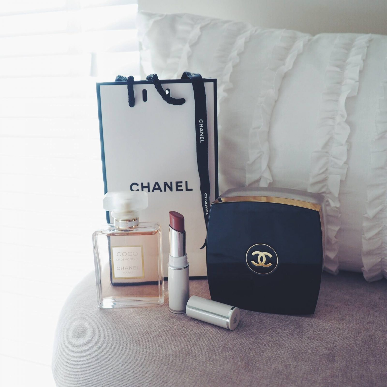 A picture of designer make-up by Chanel and Lancome make-up