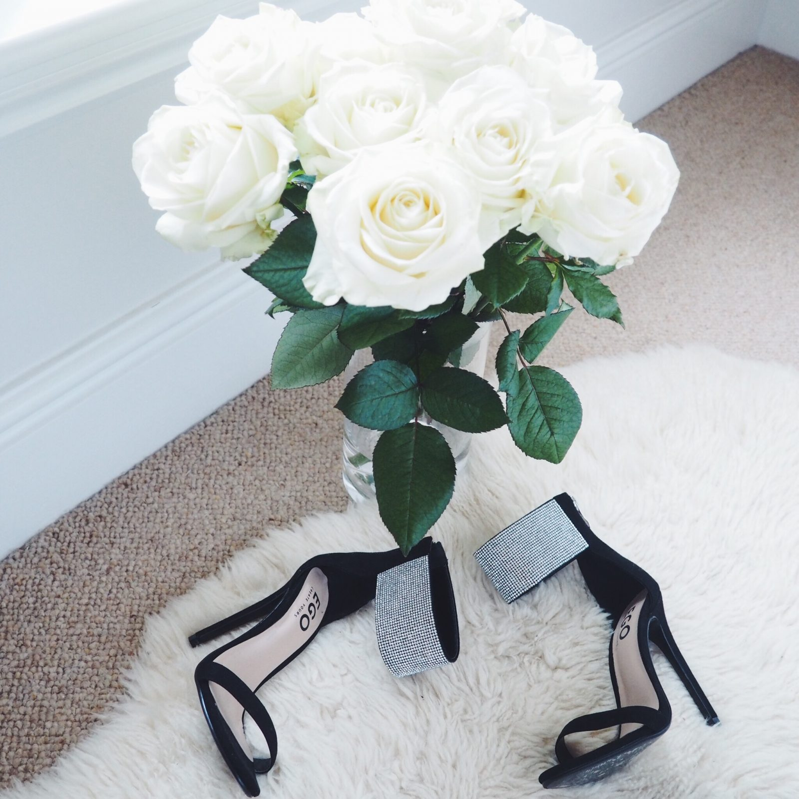 White roses and high heels