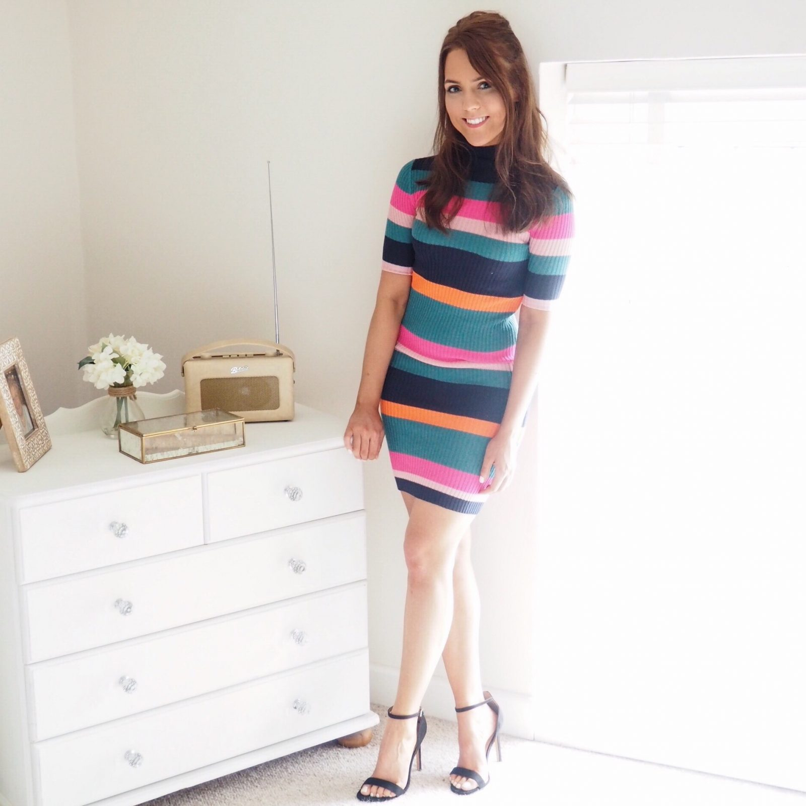 Ribbed stripe dress by Noisy May