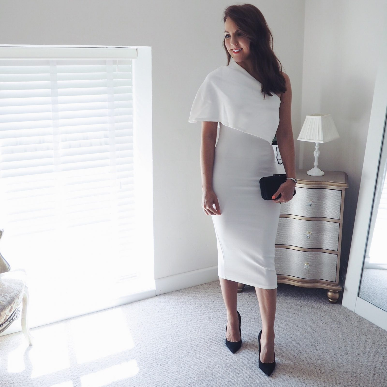 Missguided white one shoulder dress