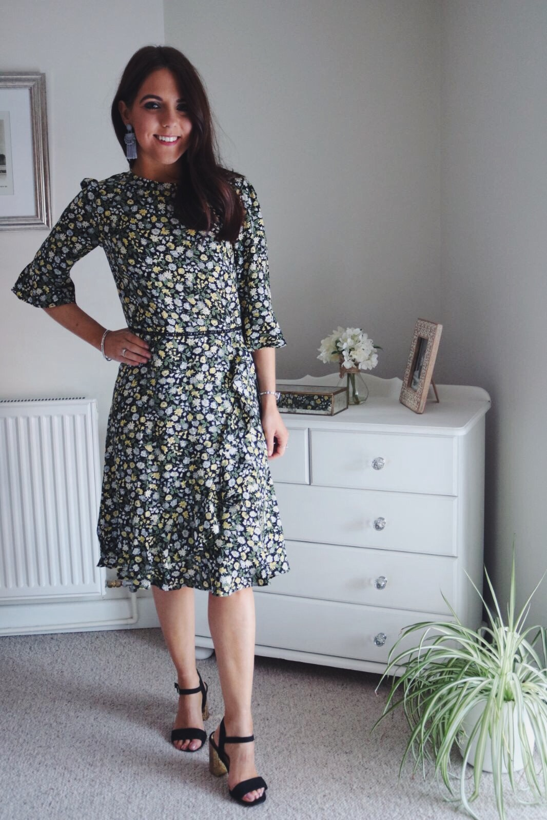 Oasis floral ditsy tea dress