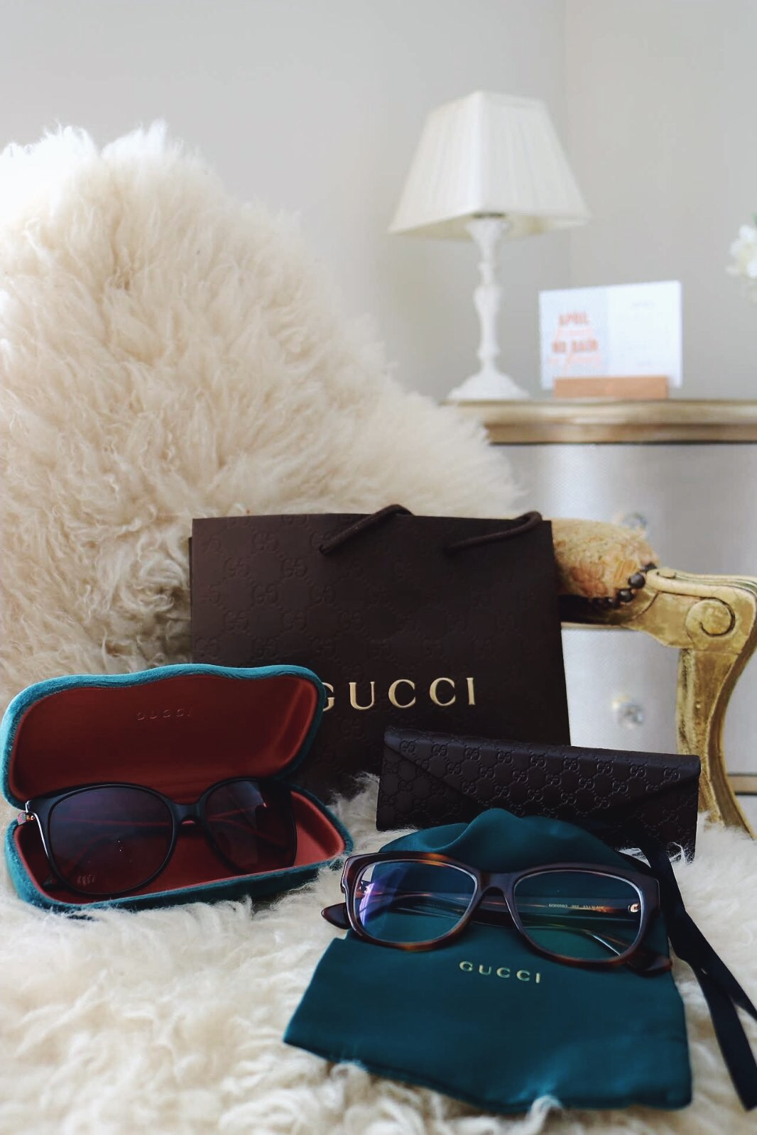 Gucci glasses and Gucci sunglasses