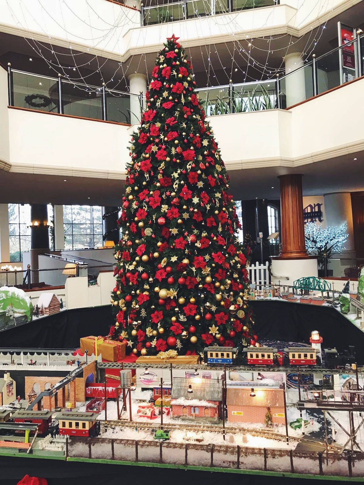 Christmas tree at the Celtic Manor Resort